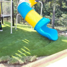 synthectic lawn in play area
